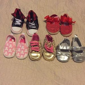 Other - 5 pair Baby Girl Shoe lot